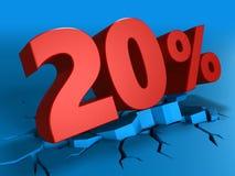 3d de um disconto de 20 por cento Imagens de Stock