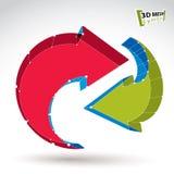 3d de updateteken van het netwerk modieus Web Stock Foto's