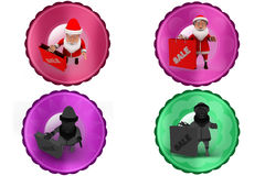 3d de verkooppictogram van de Kerstman Stock Foto's