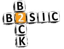 3D de volta ao texto básico das palavras cruzadas Imagem de Stock Royalty Free
