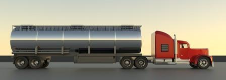3d de vrachtwagen geeft terug vector illustratie
