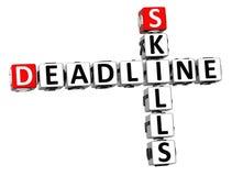 3D Deadline Skills Crossword. On white background Stock Image