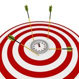 3d deadline target with arrows. On white background Royalty Free Stock Photo