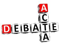 3D Debate Acta Crossword. On white background Royalty Free Stock Photos
