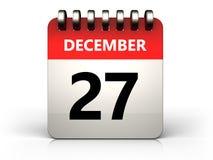 3d 27 december calendar stock illustration