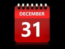 3d 31 december calendar. 3d illustration of december 31 calendar over black background Royalty Free Stock Image