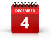 3d 4 december-kalender royalty-vrije illustratie
