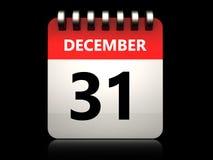 3d 31 december-kalender royalty-vrije illustratie