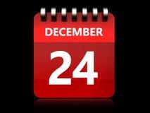 3d 24 december-kalender vector illustratie