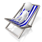 3D deckchair, sunbathing concept Royalty Free Stock Photos