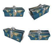 3d decorated map paper lapping gifts array . 3D Icon Design Seri Royalty Free Stock Photography