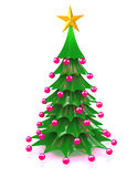 3d Decorative Christmas tree Stock Images