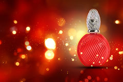 3D decorative perfume bottle Royalty Free Stock Images