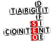 3D Define Target Content Crossword. On white background Stock Image