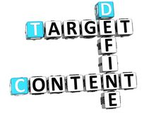 3D Define Target Content Crossword. On white background Stock Images