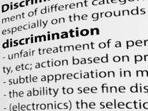 3d, definicja słowo dyskryminacja na białym papierze ilustracja wektor