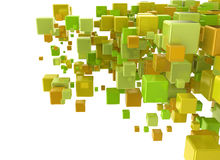 3d deigital cubes background. Isolated on white background Stock Image