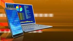 3d del computer illustrazione di stock