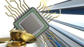 3d del CPU Fotografia Stock Libera da Diritti
