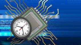 3d del CPU Immagine Stock