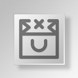 3D Delete Bag Contents icon Business Concept. 3D Symbol Gray Square Delete Bag Contents icon Business Concept Royalty Free Stock Images