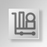 3D Deliver Items icon Business Concept. 3D Symbol Gray Square Deliver Items icon Business Concept Royalty Free Stock Photos
