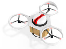 3d delivery drone with a package Stock Photo