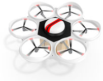 3d delivery drone with a package Royalty Free Stock Photo