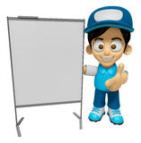 3D Delivery Service Man Mascot is presentation in front of the a Stock Photography
