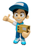 3D Delivery Service Man Mascot is to provide the best service. W Royalty Free Stock Photography