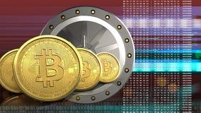 3d della porta del valut Immagini Stock Libere da Diritti