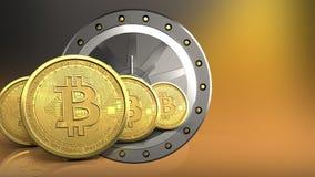 3d della porta del valut Fotografie Stock