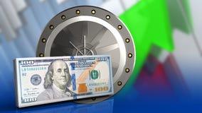 3d della porta del valut Fotografia Stock