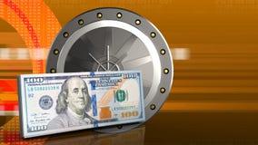 3d della porta del valut Fotografie Stock Libere da Diritti