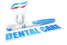 3d dental care concept Stock Photos