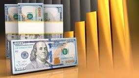 3d des billets de banque du dollar Photographie stock libre de droits