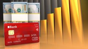 3d des billets de banque du dollar Photo libre de droits