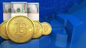 3d des billets de banque du dollar Photo stock