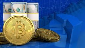 3d des billets de banque du dollar Photos libres de droits