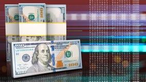 3d des billets de banque du dollar Photographie stock