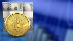 3d des billets de banque du dollar Images stock