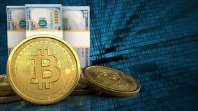3d des billets de banque du dollar Image stock