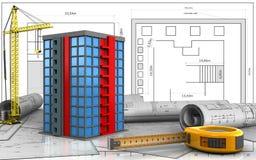 3d des Gebäudes lizenzfreie abbildung