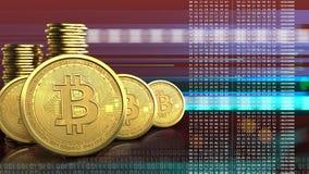 3d des pièces de monnaie Images libres de droits