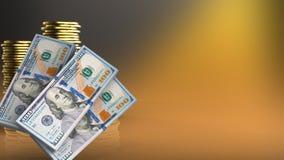3d des pièces de monnaie Photos stock