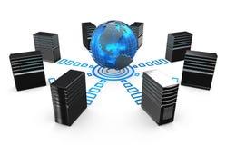 3d des serveurs de poste de travail de réseau Photos libres de droits