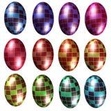 3D deseniować kruszcowe jajeczne kształt ilustracje ilustracja wektor