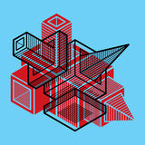 3D design, abstract  dimensional cube shape. Royalty Free Stock Images