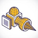 3D design, abstract vector dimensional cube shape. Modern geometric art illustration. n Stock Image