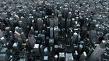 Aerial city Stock Image